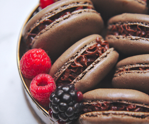 chocolate and macarons image