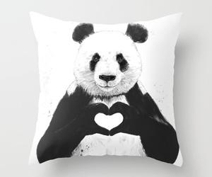 panda, love, and heart image