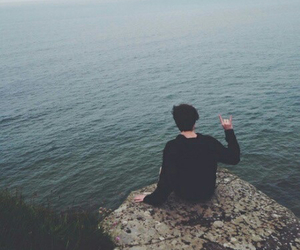 boy, grunge, and sea image