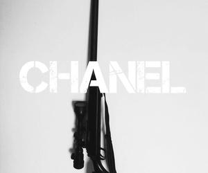 gun, background, and black image