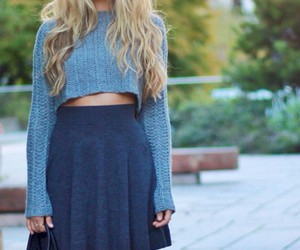 crop sweater and circle skirts image
