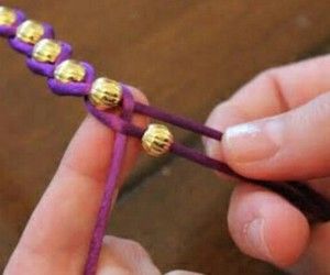 diy, bracelet, and purple image