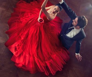 red, love, and dance image