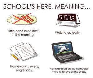 school, text, and true image