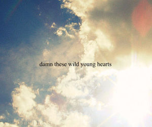wild, quote, and hearts image
