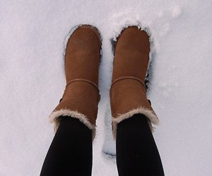 fashion, shoes, and snow image