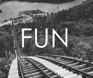 fun and black and white image