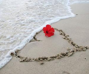 heart, love, and beach image