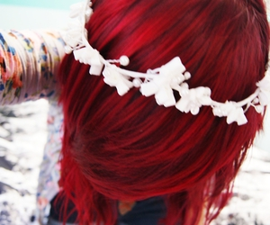 girl, pretty, and red hair image