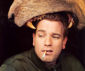 lion, ewan mcgregor, and cigarette image