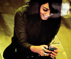 vanessa hudgens, smile, and phone image