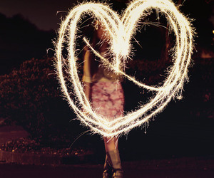 heart, girl, and light image