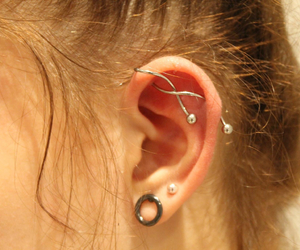 ear, girl, and love it image