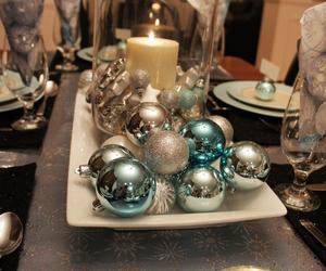 china, table decorations, and christmas image