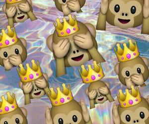 monkey, emoji, and background image
