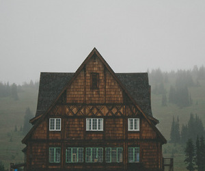 house, fog, and nature image