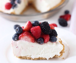 berries, cake, and cream image