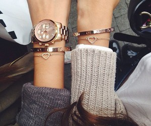 fashion, watch, and bracelet image