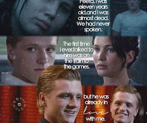 love, hunger games, and catching fire image