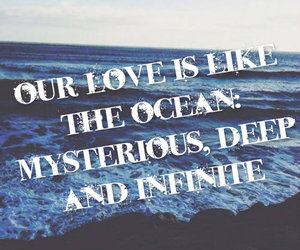 ∞, ocean, and thinks image
