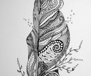 doodle, zentangle, and feather image