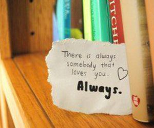 love, always, and book image