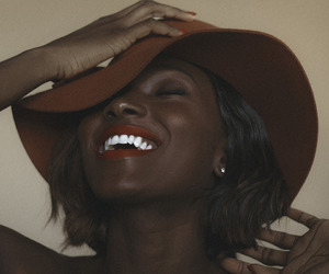 smile, black, and hat image