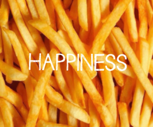 food, happiness, and fries image