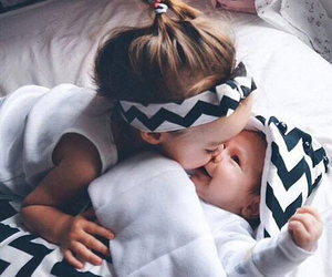 baby, sisters, and socute image