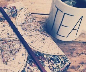 map and tea image