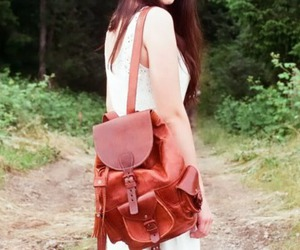 bag, forest, and leather image