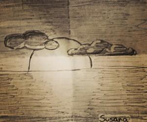atardecer, dibujo, and bolígrafo image