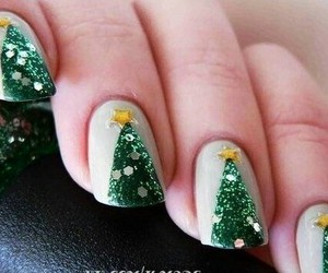 christmas, nails, and green image