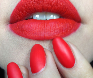 beauty, coral, and lips image