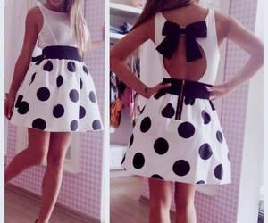dress, white, and black image