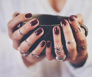 nails, rings, and coffee image