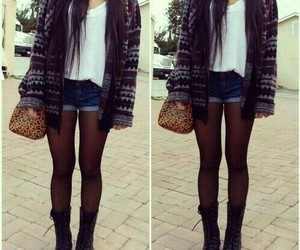beauty, casual outfit, and shoes image