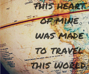 travel, world, and heart image