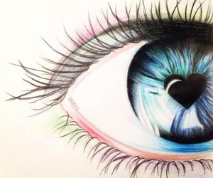 eye, heart, and draw image