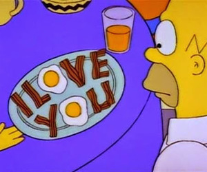 simpsons, homer, and I Love You image