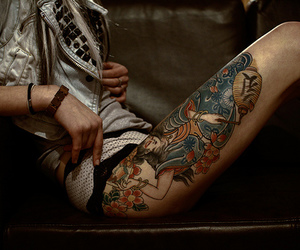 tattoo, girl, and legs image