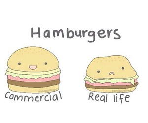 hamburger, food, and funny image