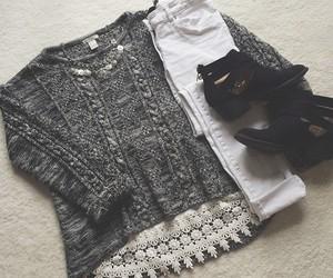 fall, fashion, and lace image