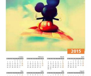 calender, cute, and disney image