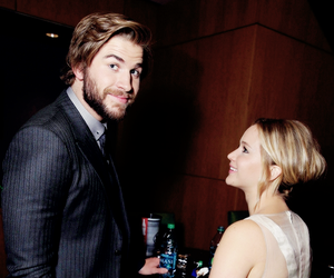 Jennifer Lawrence, liam hemsworth, and hunger games image