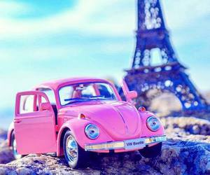 paris, pink, and car image