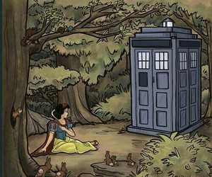doctor who, snow white, and disney image