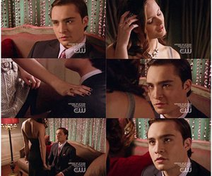 chuck and blair, leighton meester, and ed westwick image