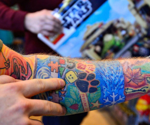 ed sheeran, tattoo, and colors image
