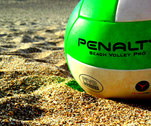ball, beach, and sand image